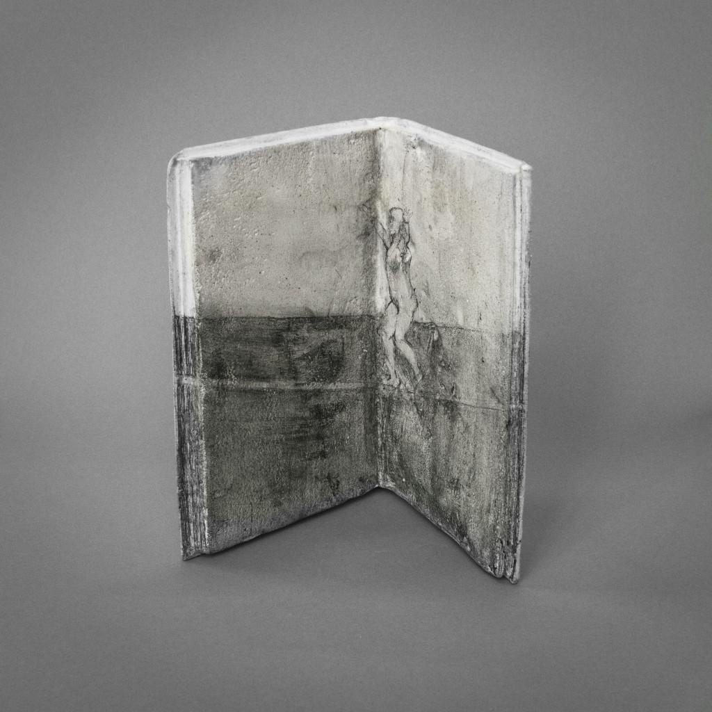 """Slackline"", sculpture, Jesmonite and drawing, 2016, Annika Bergqvist Kupiainen"