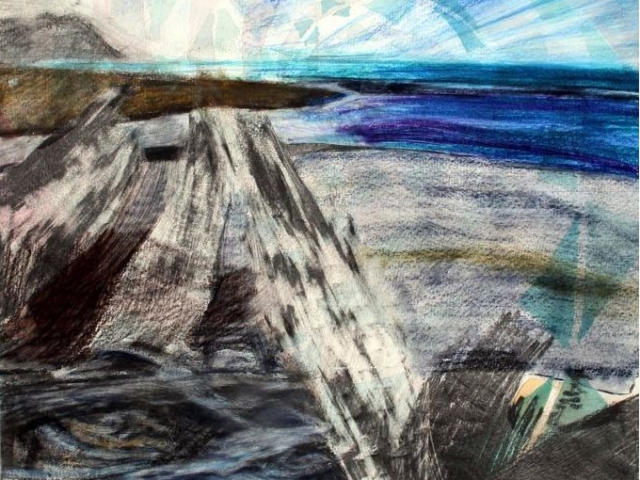 Vind, blyerts och akvarell, 25 x 30